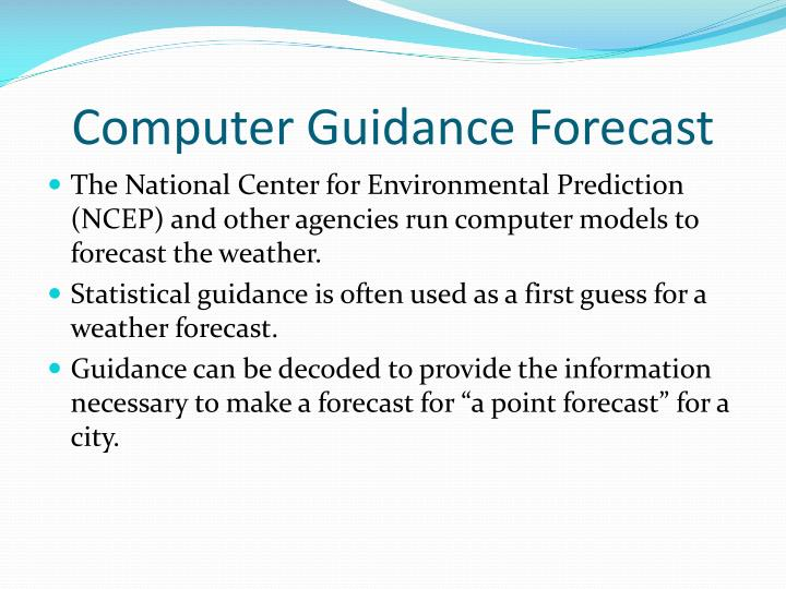 Computer Guidance Forecast