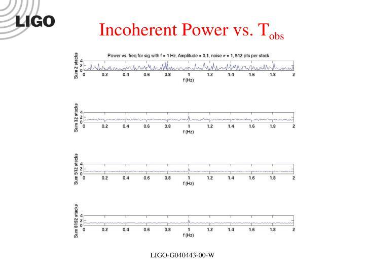 Incoherent Power vs. T