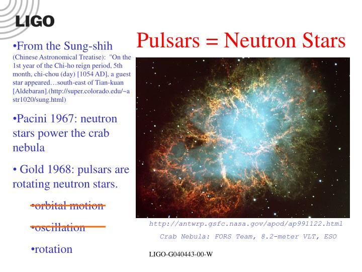 Pulsars = Neutron Stars