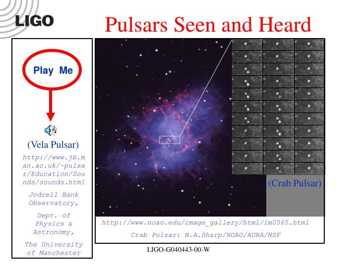 Pulsars Seen and Heard