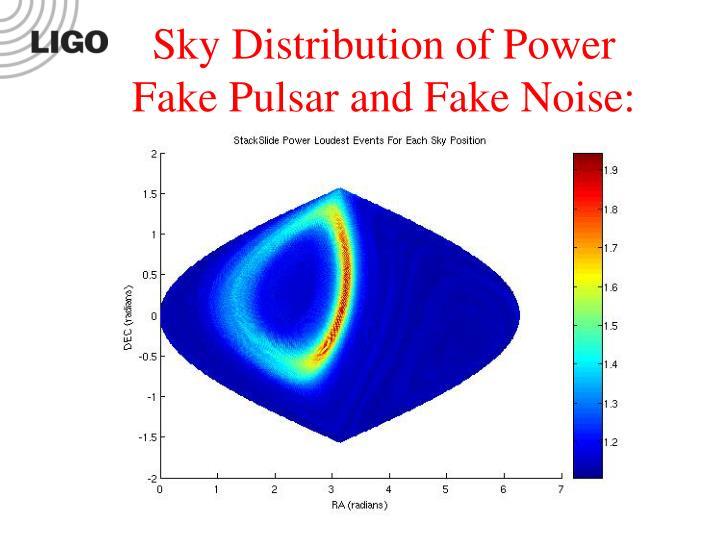 Sky Distribution of Power