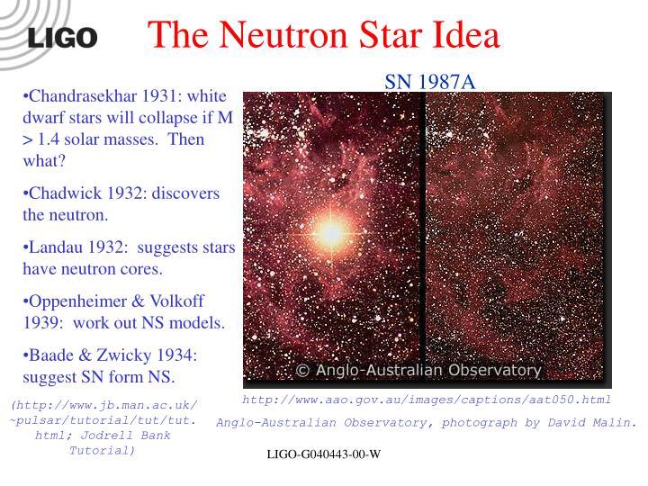 The Neutron Star Idea