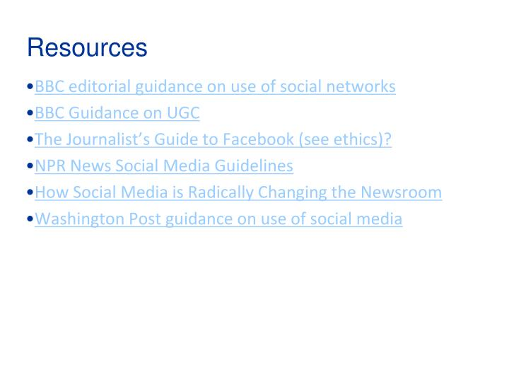 BBC editorial guidance on use of social networks