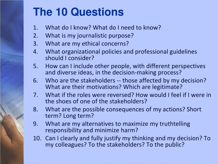 The 10 Questions
