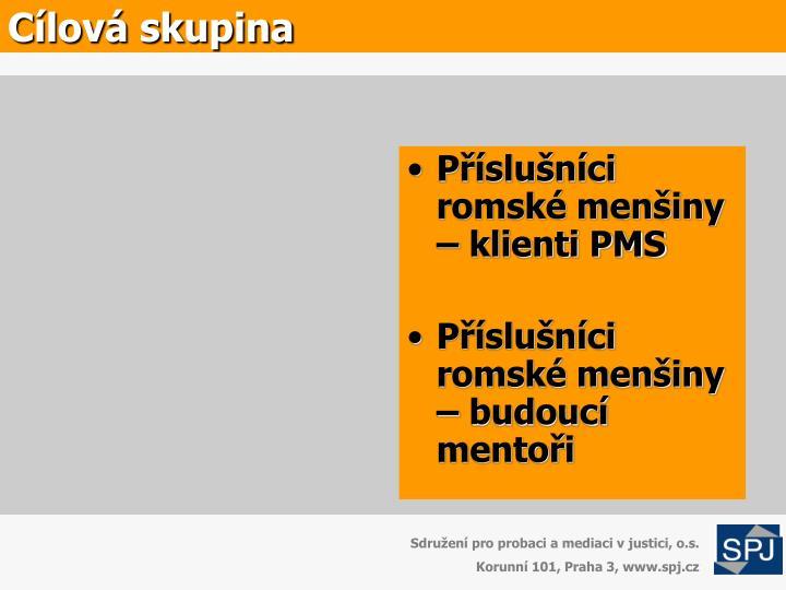 Příslušníci romské menšiny – klienti PMS