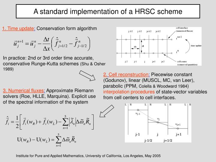 A standard implementation of a HRSC scheme