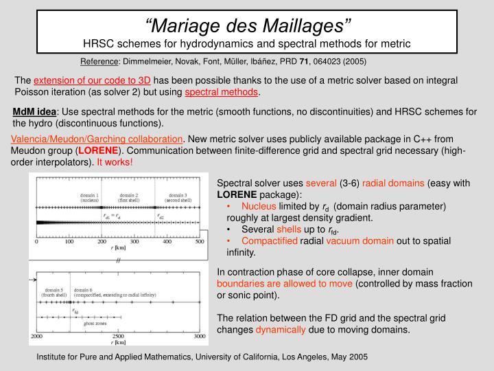 """""""Mariage des Maillages"""""""