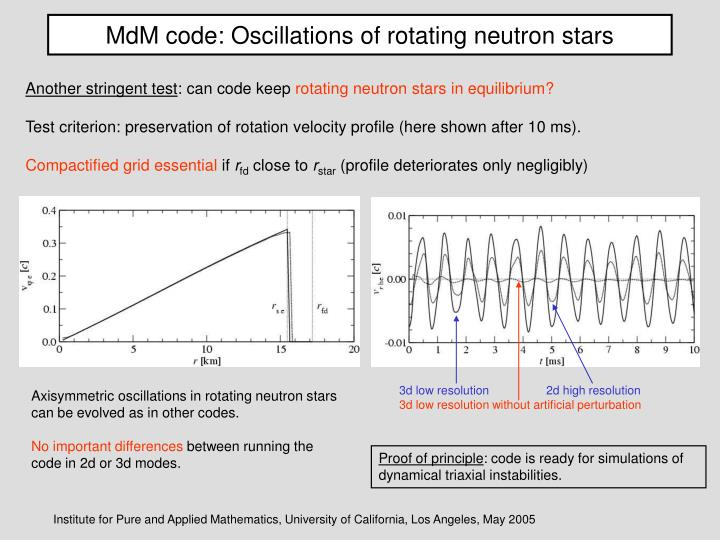 MdM code: Oscillations of rotating neutron stars