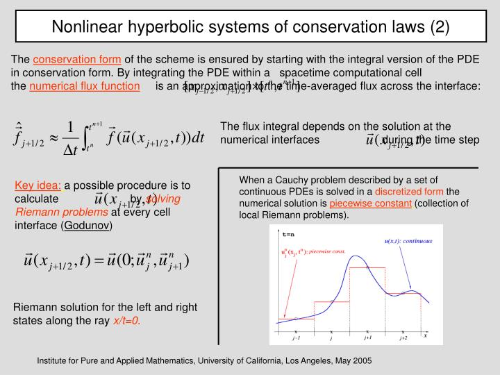 Nonlinear hyperbolic systems of conservation laws (2)
