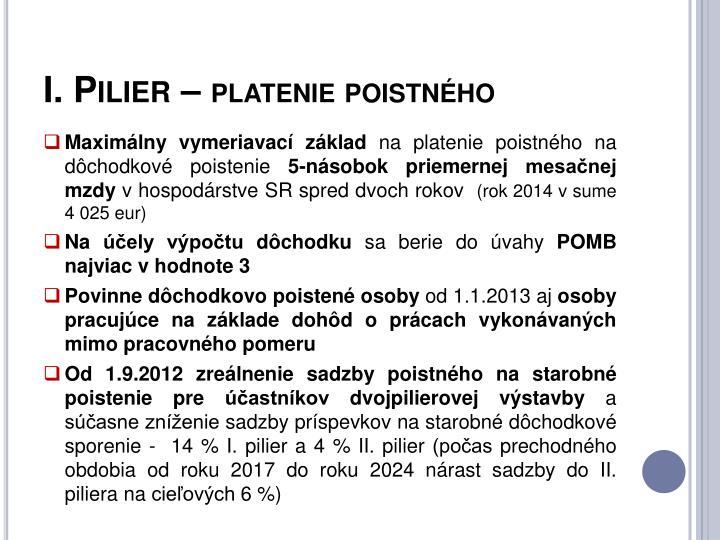 I. Pilier –