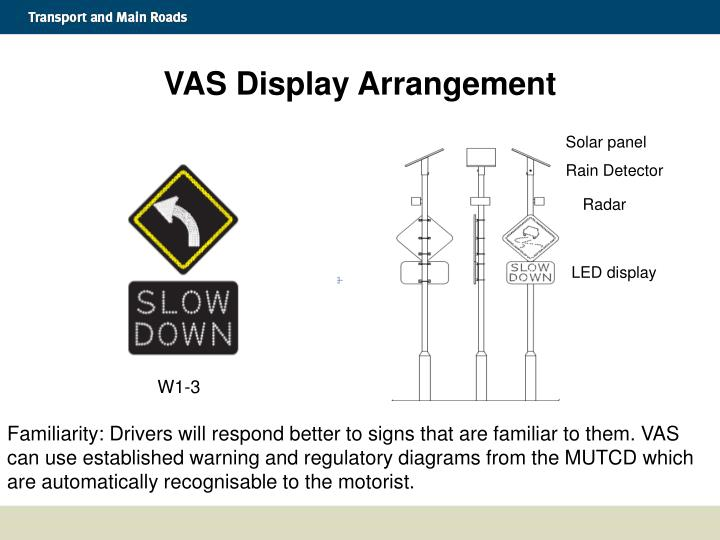 VAS Display Arrangement