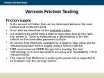vericom friction testing