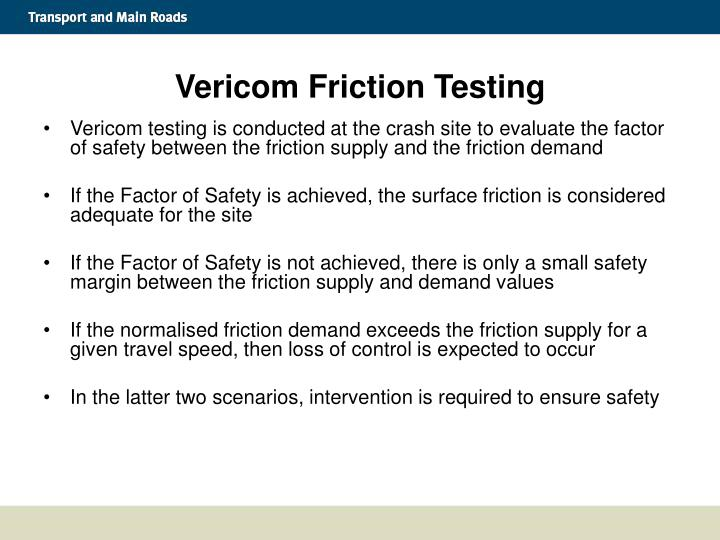 Vericom Friction Testing