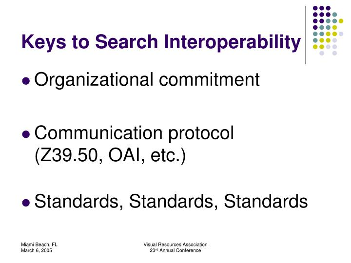 Keys to Search Interoperability