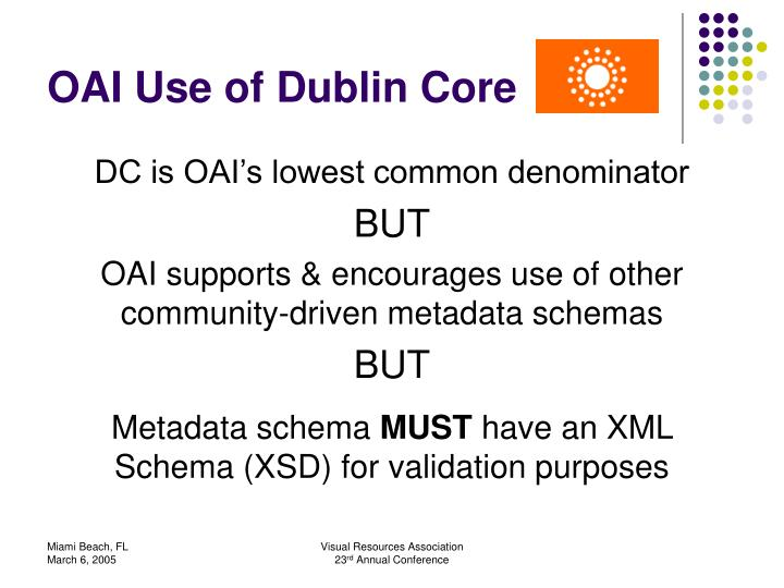 OAI Use of Dublin Core