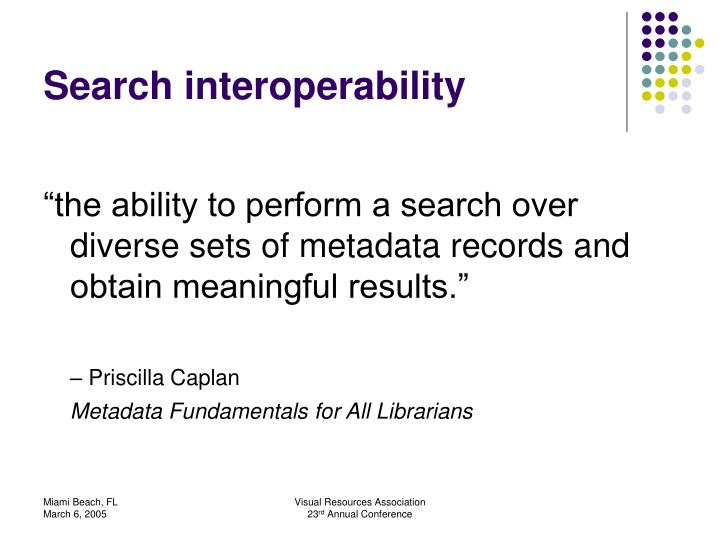 Search interoperability