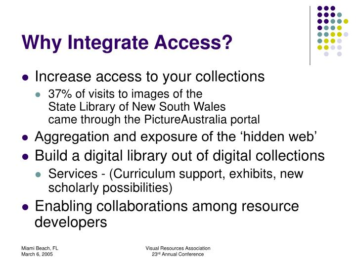 Why integrate access