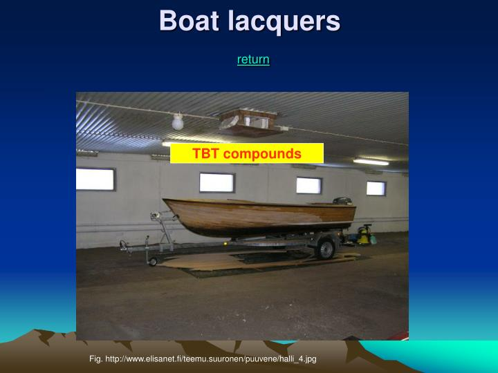 Boat lacquers