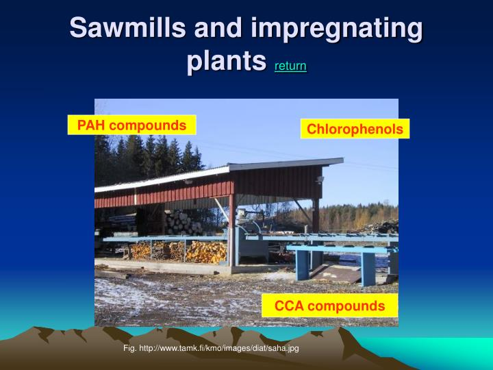 Sawmills and impregnating plants