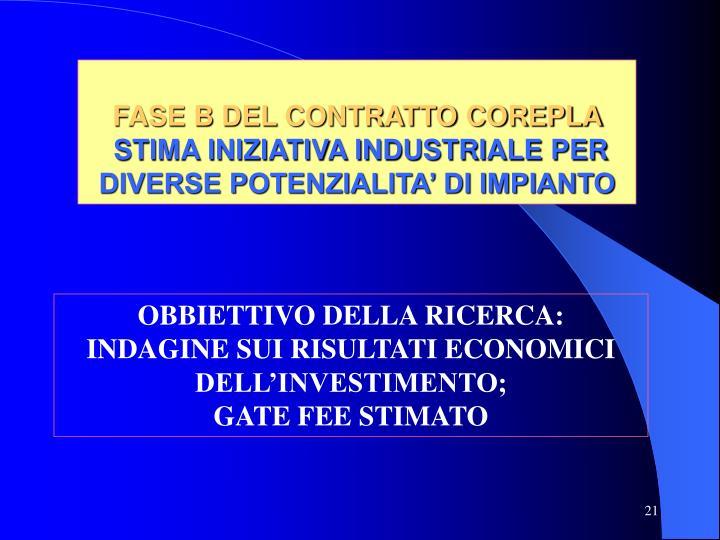 FASE B DEL CONTRATTO COREPLA