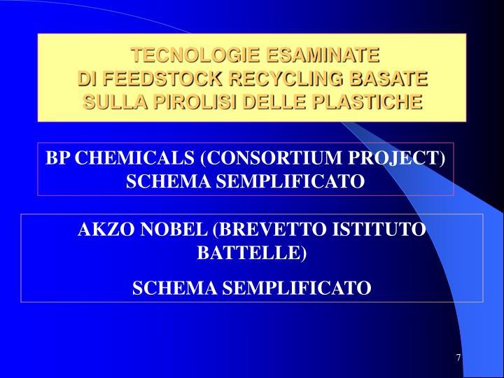 TECNOLOGIE ESAMINATE