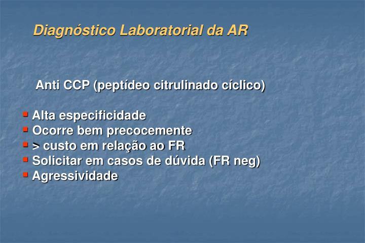 Diagnóstico Laboratorial da AR