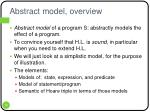 abstract model overview