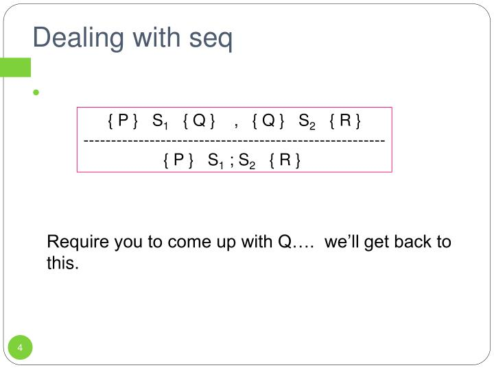 Dealing with seq
