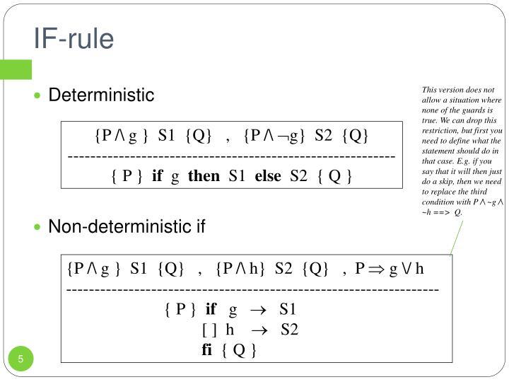 IF-rule