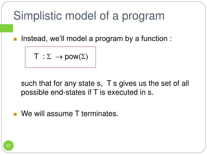 Simplistic model of a program