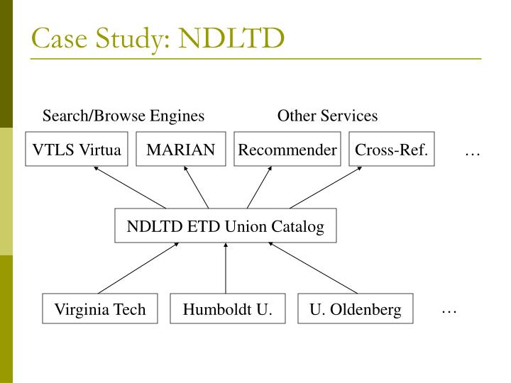 Case Study: NDLTD