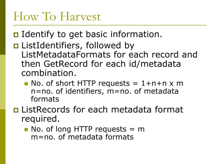 How To Harvest