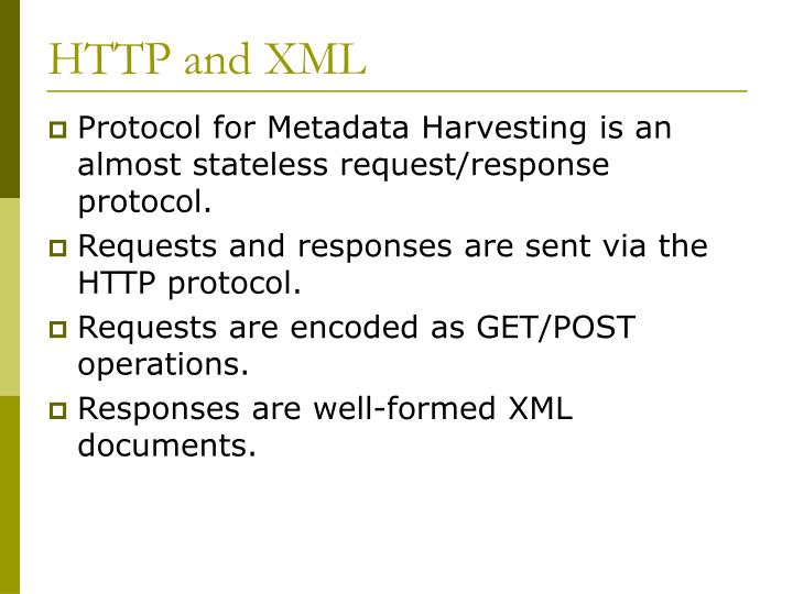 HTTP and XML