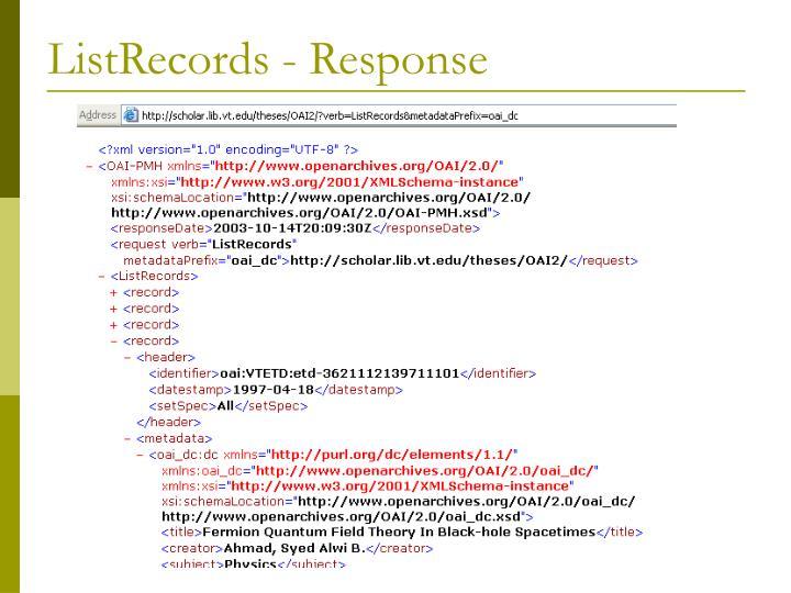 ListRecords - Response