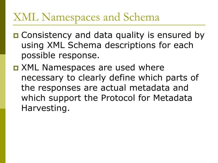 XML Namespaces and Schema