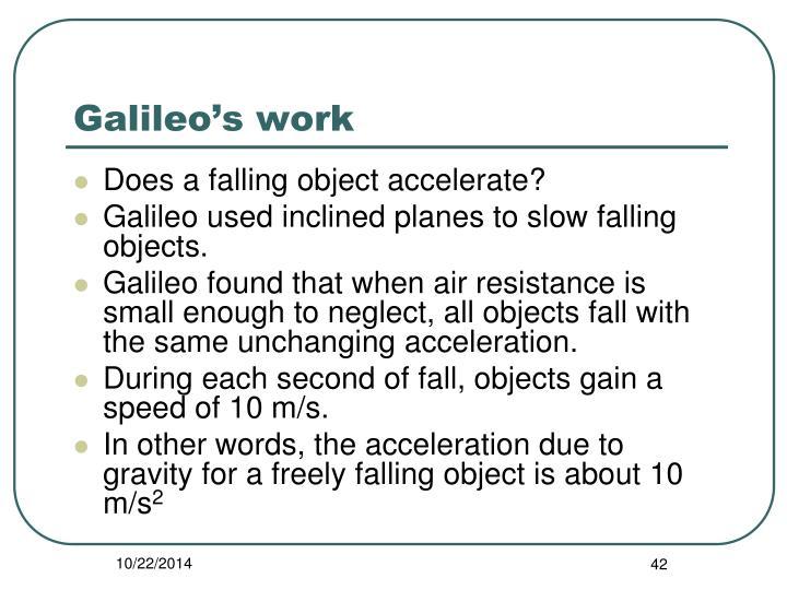 Galileo's work