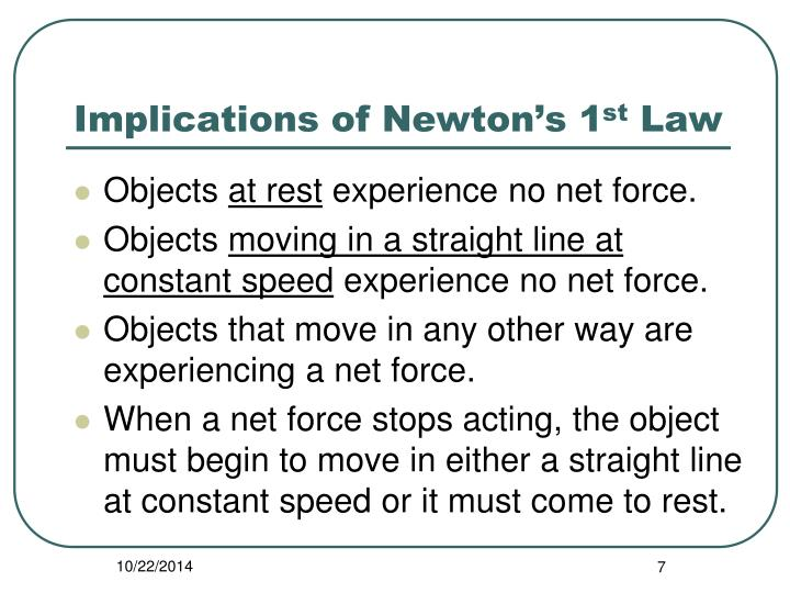 Implications of Newton's 1