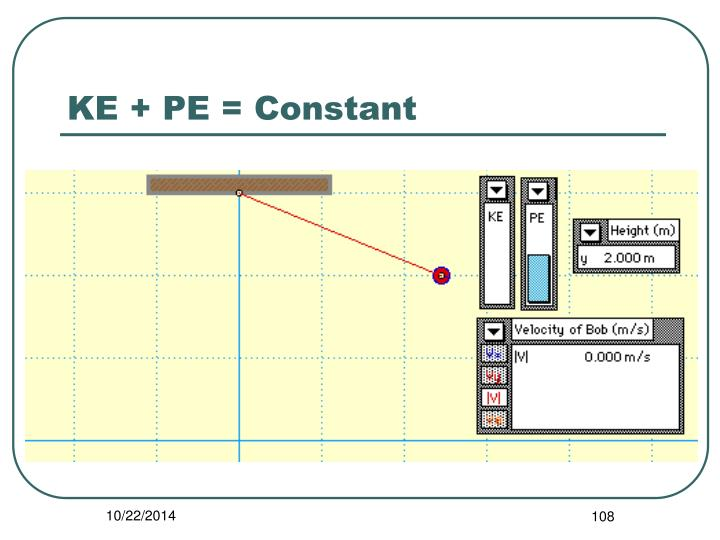 KE + PE = Constant
