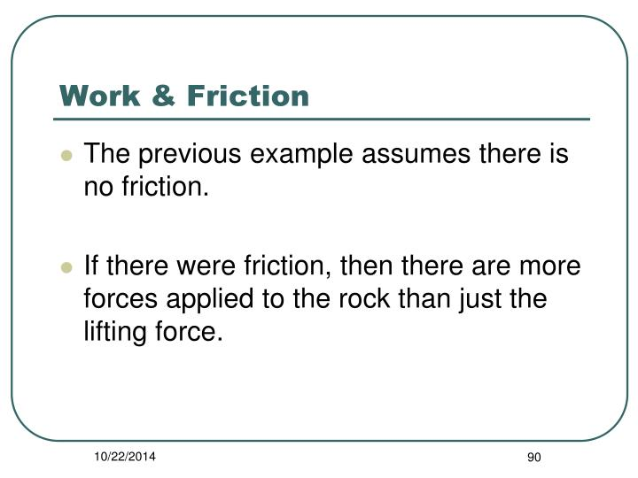 Work & Friction
