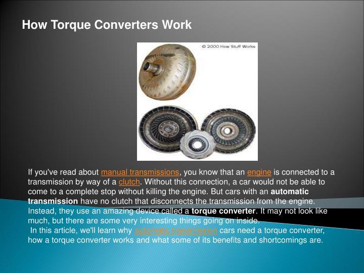 How Torque Converters Work