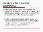 escrita digital e autoria colaborativa