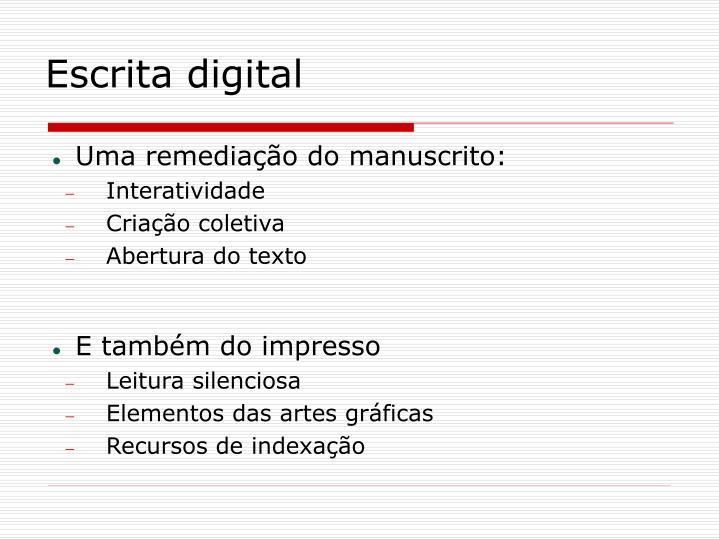 Escrita digital