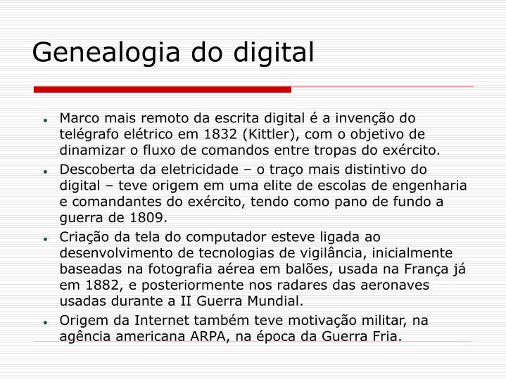Genealogia do digital