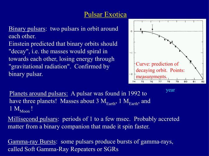 Pulsar Exotica