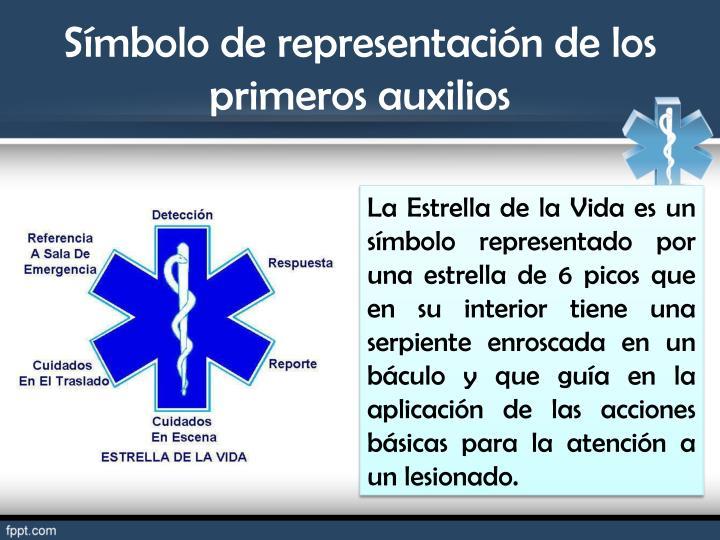 Símbolo de representación de los primeros auxilios