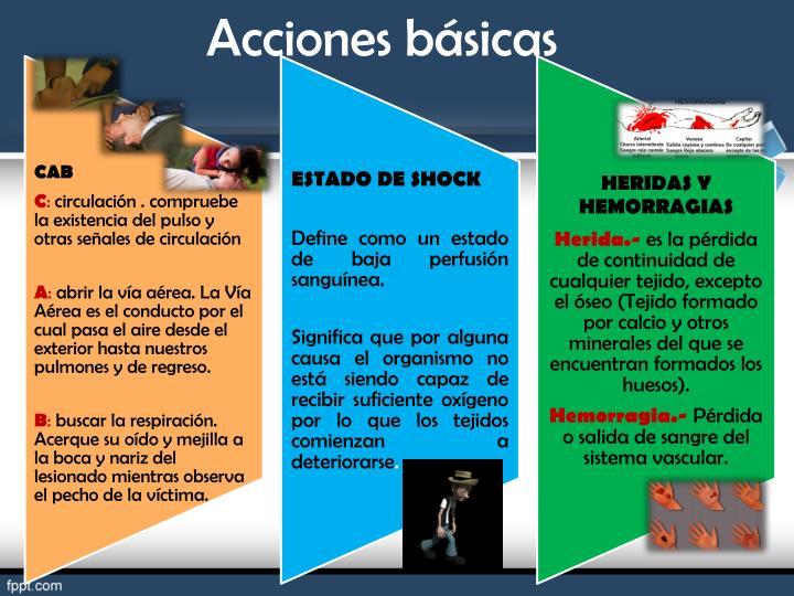 Acciones básicas