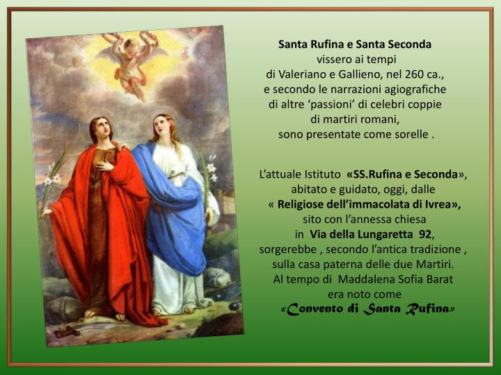 Santa Rufina e Santa Seconda