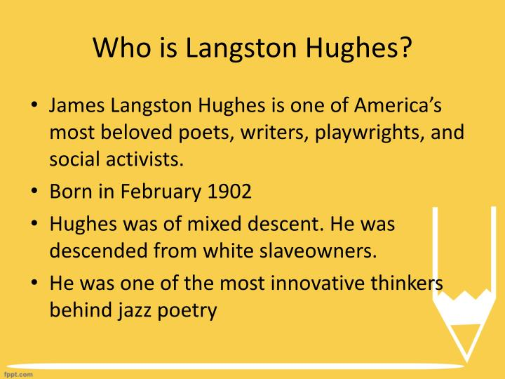 by critical essay hughes langston reading road Published: mon, 5 dec 2016 ted hughes wrote his poem 'the wind' in 1966, like many of his works it is a poem largely focussed on nature in particular, this poem represents the violence in the natural world and leaves the reader feeling somewhat disturbed by its imagery and the meaning that it may imply.