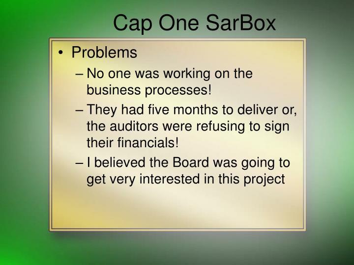 Cap One SarBox