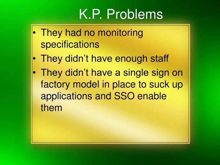 K.P. Problems